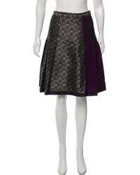 Behnaz Sarafpour - Metallic Knee-length Skirt Grey - Lyst