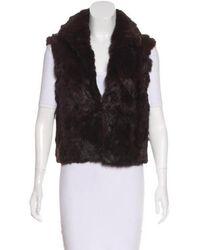 Adrienne Landau - Collared Fur Vest - Lyst