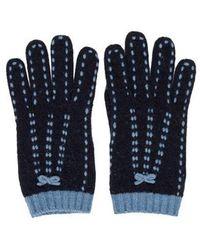 Moschino - Cashmere-blend Knit Gloves Navy - Lyst