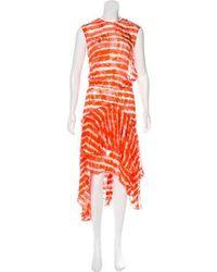 Preen By Thornton Bregazzi - Sheer Maxi Dress Orange - Lyst