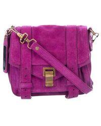 Proenza Schouler - Mini Suede Ps1 Crossbody Bag Purple - Lyst
