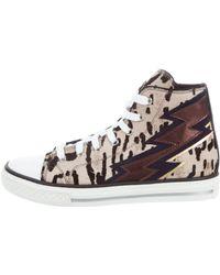 Roberto Cavalli - Ponyhair High-top Sneakers W/ Tags Tan - Lyst
