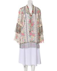 Anna Sui - Floral Long Sleeve Blouse W/ Tags Multicolor - Lyst