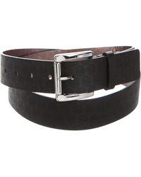 MICHAEL Michael Kors - Michael Kors Logo Buckle Belt Black - Lyst