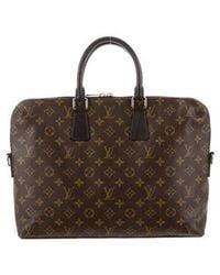 Louis Vuitton - Monogram Macassar Porte-documents Jour Brown - Lyst