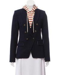 Veronica Beard - Notch-lapel Hooded Blazer Navy - Lyst