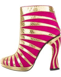 Rodarte - Embossed Ankle Boots W/ Tags Pink - Lyst
