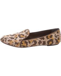 B Brian Atwood - Embellished Round-toe Loafers - Lyst