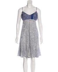 Issa - Printed Knee-length Dress Navy - Lyst