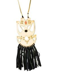 Lizzie Fortunato - Long Fringe Necklace Gold - Lyst