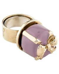 RED Valentino - Gift Box Cocktail Ring Gold - Lyst