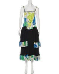 Adam Selman - Printed Midi Dress - Lyst