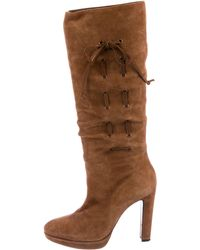 Moschino - Suede Knee-high Boots - Lyst