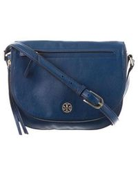 36f93f26aa3c Lyst - Tory Burch Brody Leather Satchel Bag in Purple