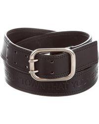 dc4c696dd0efd Lyst - Dior Homme Embellished Leather Belt Black in Metallic for Men