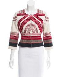 Sachin & Babi - Embroidered Collarless Jacket - Lyst