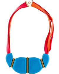 Marion Vidal - Enameled Ceramic Collar Necklace Brass - Lyst