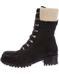 Chanel - Cc Suede Mid-calf Boots W/ Tags - Lyst