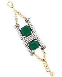 Lulu Frost - Future Crystal Bracelet Gold - Lyst