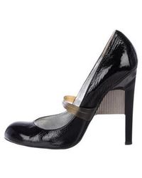 Ruthie Davis - Patent Leather Round-toe Pumps - Lyst