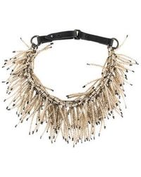 Brunello Cucinelli - Quartz Fringe Collar Necklace Silver - Lyst