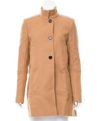 Proenza Schouler - Short Button-up Coat Neutrals - Lyst