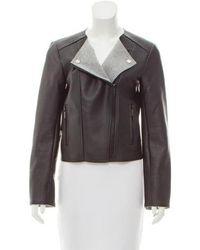 MICHAEL Michael Kors - Michael Kors Coated Faux-leather Jacket - Lyst