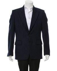Maison Margiela - Wool Pinstripe Single-button Blazer Navy - Lyst
