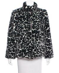 Marc Jacobs - Leopard Printed Faux Fur Jacket W/ Tags Black - Lyst