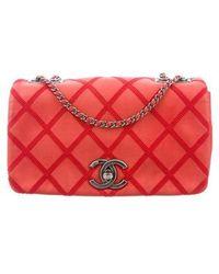 473a3ba639767d Chanel - Iridescent Calfskin Diamond Stitch Small Flap Bag Grey - Lyst