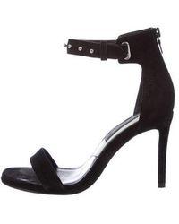 6d01e65e0fd Lyst - Rag   Bone Leather Peep-toe Pumps Black in Metallic