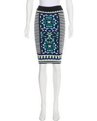 Torn By Ronny Kobo - Patterned Knit Skirt Multicolor - Lyst
