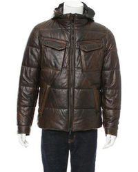 Tod's - Leather Puffer Coat W/ Tags - Lyst