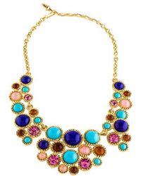 Kenneth Jay Lane - Resin, Glass, Crystal Collar Necklace Gold - Lyst