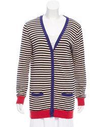 Sonia by Sonia Rykiel - Sonia By Rykiel Angora-blend Striped Cardigan - Lyst