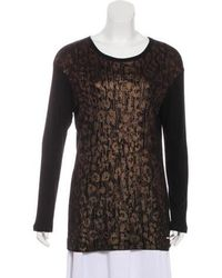 Ferragamo - Animal Print Sweater Black - Lyst