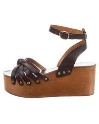 8b3e099cc19 Lyst - Étoile Isabel Marant Zia Wedge Sandals in Black