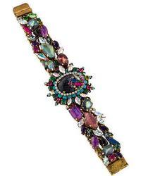 Erickson Beamon - Crystal & Resin Multistrand Bracelet Gold - Lyst