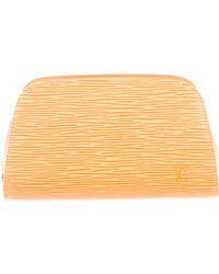 Louis Vuitton - Epi Dauphine Cosmetic Bag Yellow - Lyst