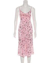 Piamita - Silk Pleated Dress - Lyst