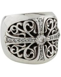 Chrome Hearts - Diamond Cross Ring Silver - Lyst