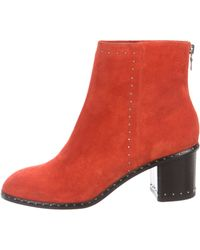 Rag & Bone - Willow Studded Boots Silver - Lyst