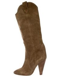 7402a6a6694f Lyst - Étoile Isabel Marant Suede Over-the-knee Boots Olive in Green
