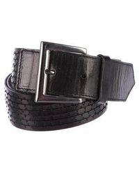 Barbara Bui - Leather Buckle Belt Black - Lyst