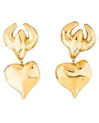 Christian Lacroix - Heart Clip-on Earrings Gold - Lyst