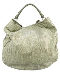 Sergio Rossi - Cutout Leather Hobo Gold - Lyst