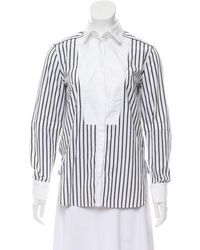 Belstaff - Striped Button-up Top White - Lyst