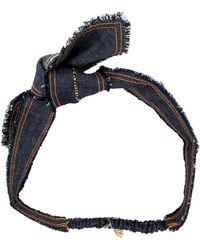 Colette Malouf - Swarovski-embellished Denim Headband - Lyst