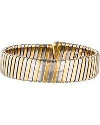 bvlgari tubogas coil bracelet yellow lyst