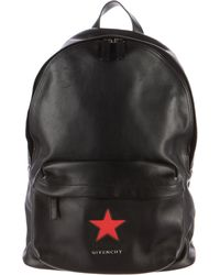 4806f79f25 Givenchy - Leather Star-embroidered Backpack Black - Lyst